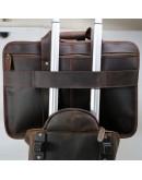 Фотография Коричневая мужская вместительная сумка из плотной кожи Р13042