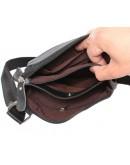 Фотография Удобная черная кожаная сумка на каждый день 7137