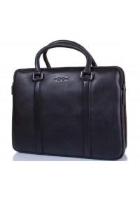 Кожаная сумка для небольшого ноутбука 1373-1 BLACK