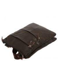 Модная и стильная кожаная сумка на плечо 7138 коричневая