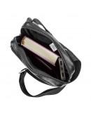 Фотография Черная мужская кожаная сумка на плечо SHVIGEL 13935
