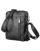 Фотография Черная сумка мужская на плечо SHVIGEL 13936