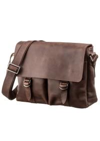 Кожаная сумка горизонтальная формата А4 SHVIGEL 13940