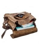 Фотография Винтежный кожаный небольшой рюкзак SHVIGEL 13948