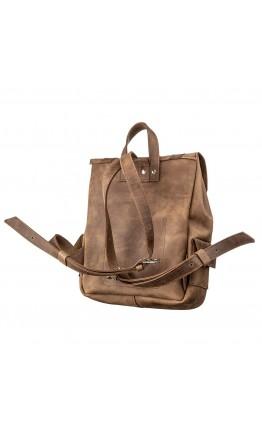 Винтежный кожаный небольшой рюкзак SHVIGEL 13948