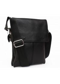 Качественная мужская сумка на плечо 7140 черная