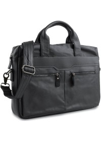 Черная мужская кожаная сумка для документов Vintage 14054