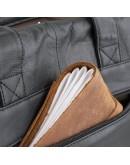 Фотография Черная мужская кожаная сумка для документов Vintage 14054