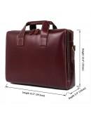 Фотография Мужская деловая кожаная мужская сумка Vintage 14073