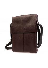 Мужская стильная кожаная сумка на плечо 7140k коричневая