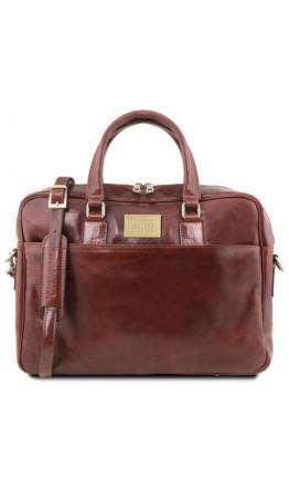 Коричневая мужская сумка портфель Tuscany Leather TL141241 brown