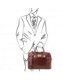 Фотография Коричневая мужская сумка портфель Tuscany Leather TL141241 brown