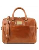 Фотография Мужская сумка портфель медового цвета Tuscany Leather TL141241 honey