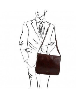 Черная вместительная сумка на плечо Tuscany Leather TL141254 black