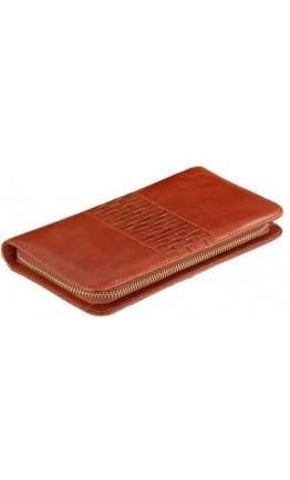 Коричневый кожаный мужской удобный клатч Vintage 14189