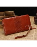Фотография Коричневый кожаный мужской удобный клатч Vintage 14189