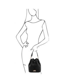 Фирменная женская сумка мешок Tuscany Leather 142083 TL Bag black