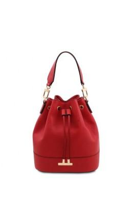 Красная женская фирменная сумка Tuscany Leather 142083 TL Bag red