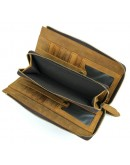 Фотография Винтажный кожаный рыжий мужской клатч Vintage 14214