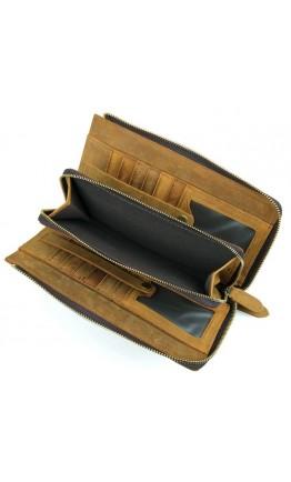 Винтажный кожаный рыжий мужской клатч Vintage 14214