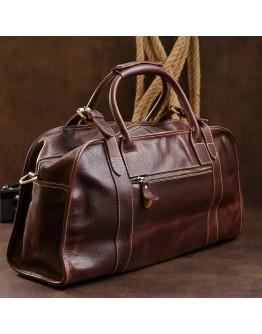 Коричневая мужская сумка кожаная дорожная Vintage 14265
