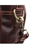 Фотография Коричневая мужская сумка кожаная дорожная Vintage 14265