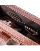 Фотография Дорожная коричневая кожаная сумка Vintage 14285