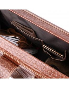 Дорожная коричневая кожаная сумка Vintage 14285