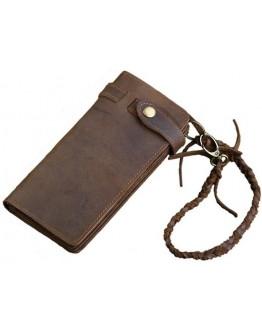 Коричневое мужское винтажное портмоне - клатч Vintage 14383
