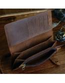 Фотография Коричневое мужское винтажное портмоне - клатч Vintage 14383