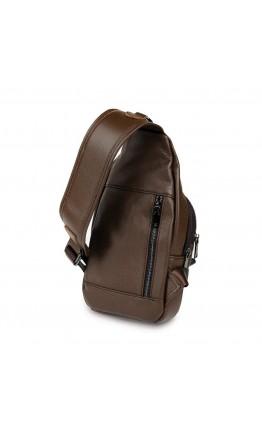 Коричневый мужской кожаный слинг Vintage 14390