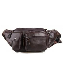 Коричневая мужская сумка на пояс Vintage 14431