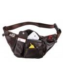 Фотография Коричневая мужская сумка на пояс Vintage 14431