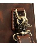 Фотография Дорожная коричневая винтажная сумка Vintage 14505