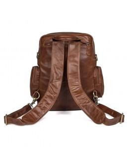 Кожаный рюкзак - сумка коричневая Vintage 14561
