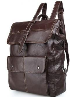 Коричневый кожаный мужской рюкзак 14619-2