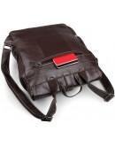 Фотография Коричневый кожаный мужской рюкзак 14619-2