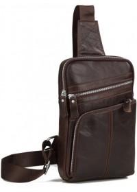 Мужской кожаный слинг - рюкзак Vintage 14624