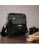Фотография Мужская сумка через плечо черная Vintage 14649