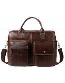 Фотография Коричневая мужская кожаная сумка Vintage 14661