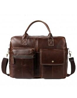 Коричневая мужская кожаная сумка Vintage 14661