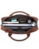 Фотография Кожаная сумка черная для ноутбука кожаная мужская Vintage 14662