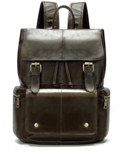 Фотография Коричневый кожаный мужской рюкзак 14668