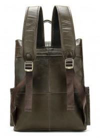 Коричневый кожаный мужской рюкзак 14668