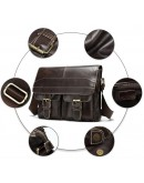 Фотография Коричневая мужская сумка через плечо Vintage 14671