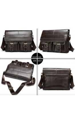 Коричневая мужская сумка через плечо Vintage 14671