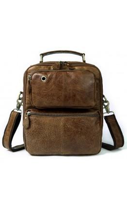 Мужская сумка рыжего цвета Vintage 14673