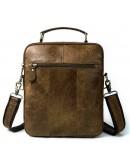 Фотография Мужская сумка рыжего цвета Vintage 14673