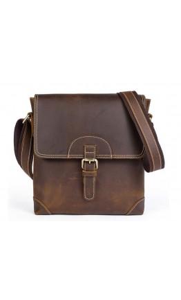 Сумка через плечо мужская кожаная винтажная Vintage 14675