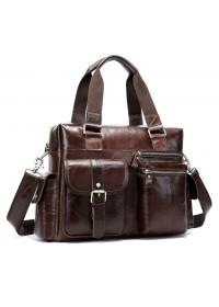 Коричневая мужская вместительная сумка Vintage 14676
